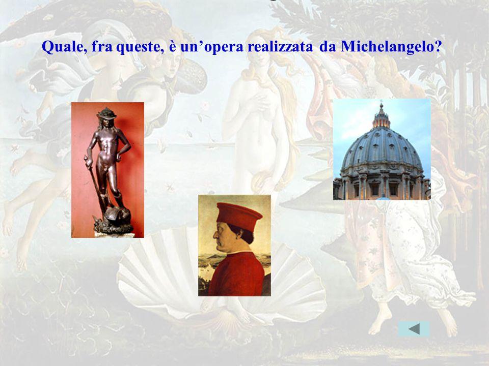 michelang1err Quale, fra queste, è un'opera realizzata da Michelangelo