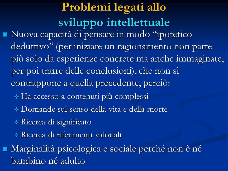 Problemi legati allo sviluppo intellettuale