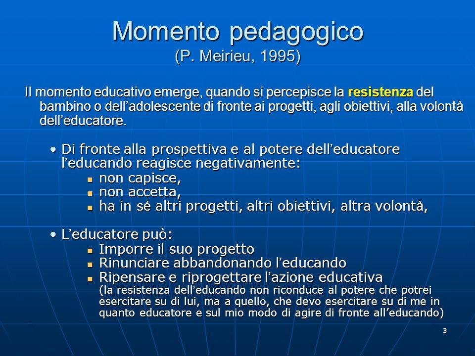 Momento pedagogico (P. Meirieu, 1995)