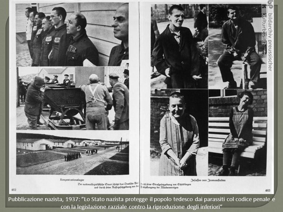 Pubblicazione nazista, 1937: Lo Stato nazista protegge il popolo tedesco dai parassiti col codice penale e con la legislazione razziale contro la riproduzione degli inferiori