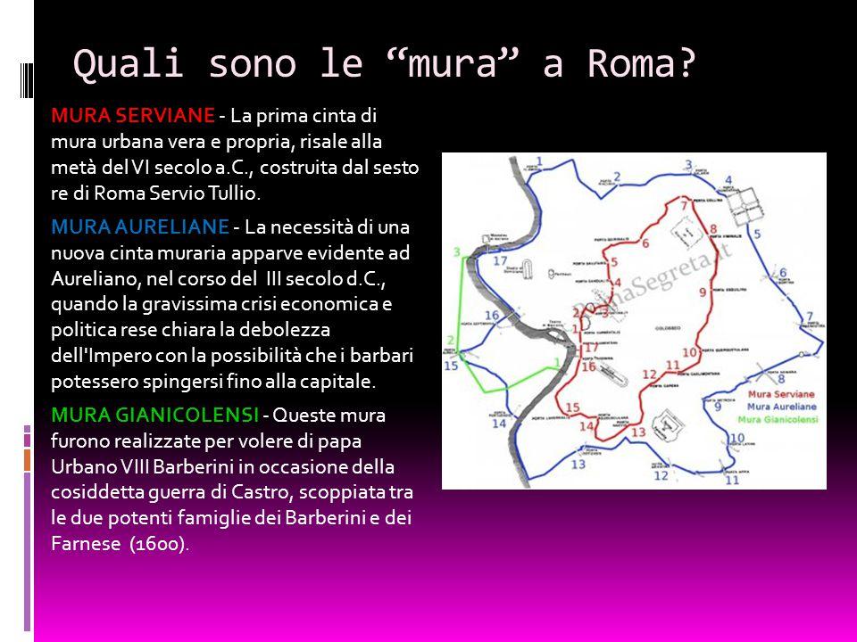 Quali sono le mura a Roma