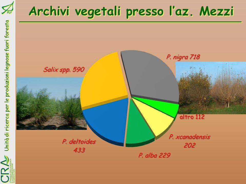 Archivi vegetali presso l'az. Mezzi