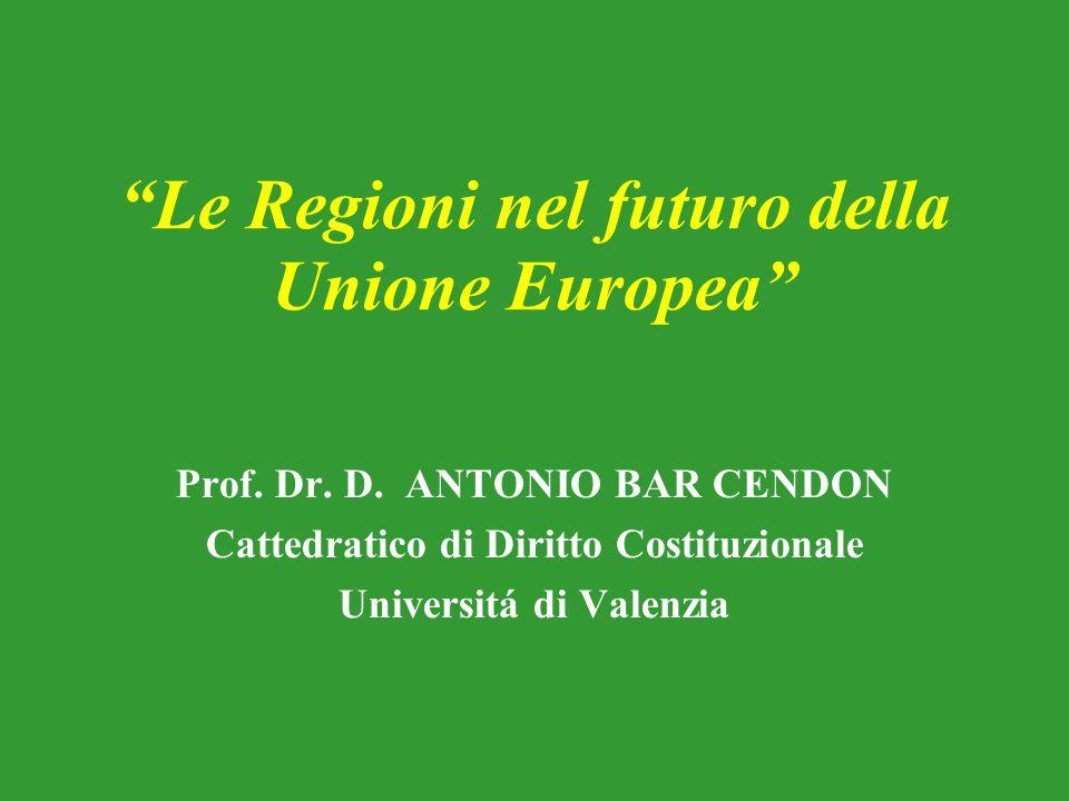 Le Regioni nel futuro della Unione Europea