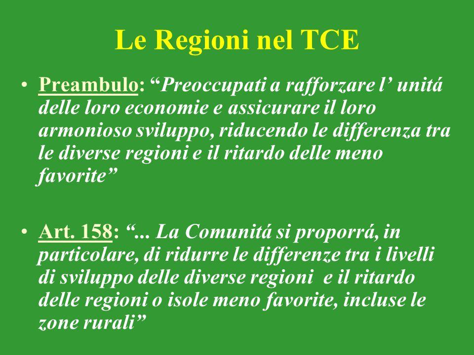 Le Regioni nel TCE