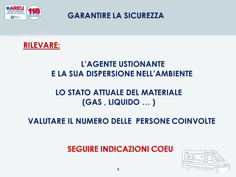 L'AGENTE USTIONANTE E LA SUA DISPERSIONE NELL'AMBIENTE