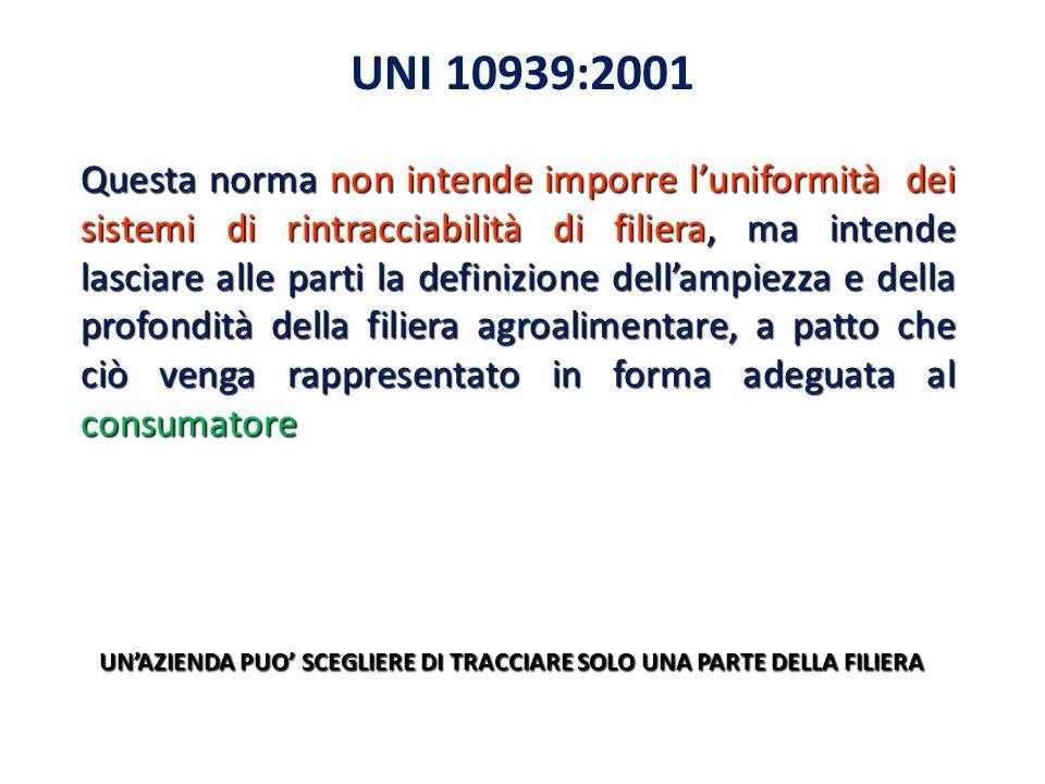 UNI 10939:2001