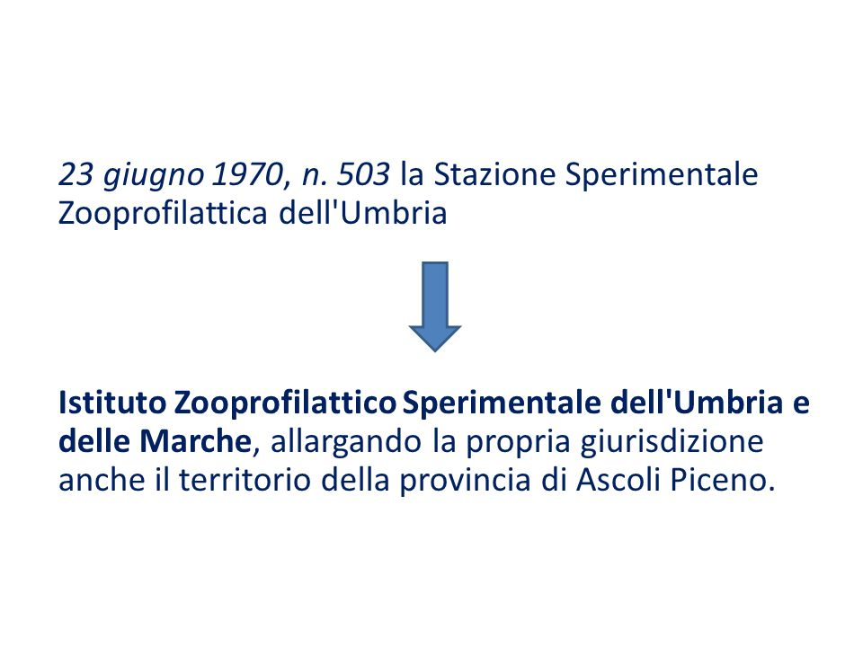 23 giugno 1970, n. 503 la Stazione Sperimentale Zooprofilattica dell Umbria