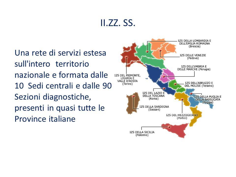 II.ZZ. SS. Una rete di servizi estesa sull intero territorio nazionale e formata dalle 10 Sedi centrali e dalle 90 Sezioni diagnostiche,