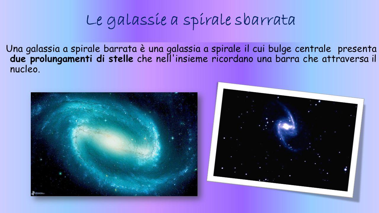 Le galassie a spirale sbarrata