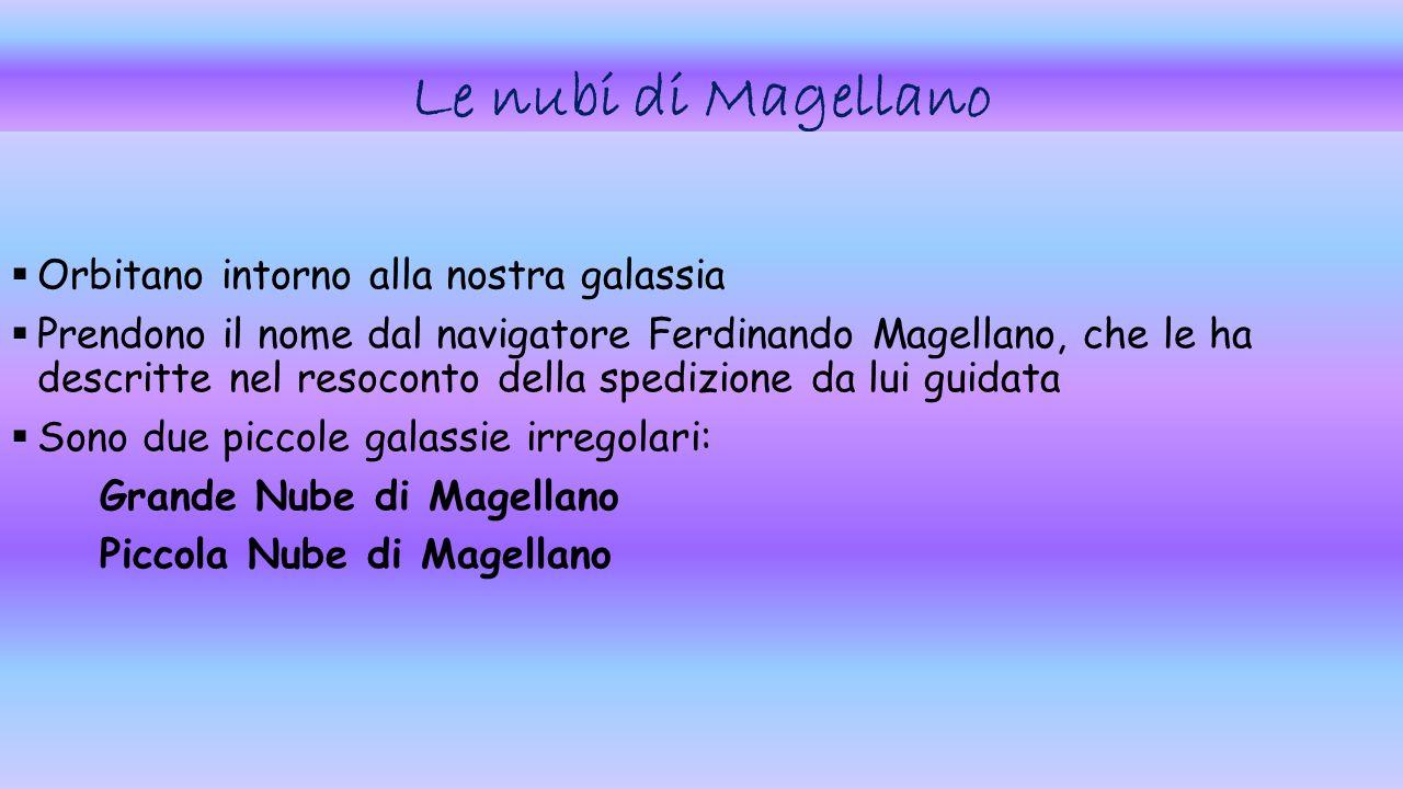 Le nubi di Magellano Orbitano intorno alla nostra galassia