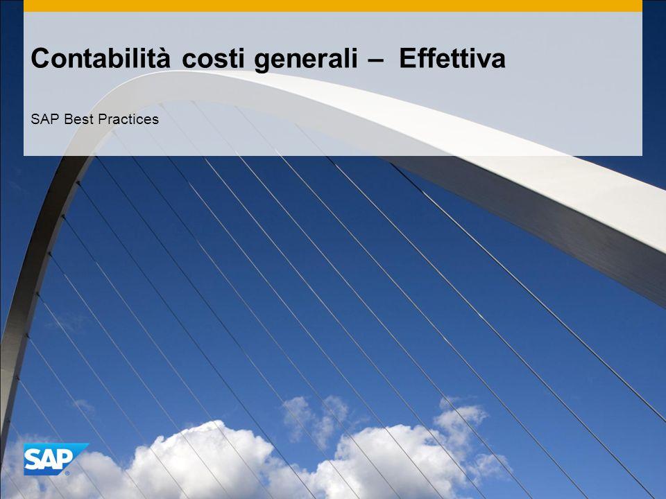 Contabilità costi generali – Effettiva