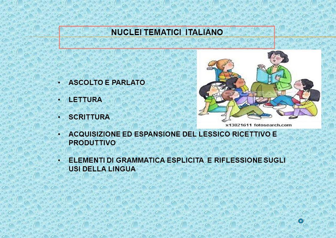 NUCLEI TEMATICI ITALIANO