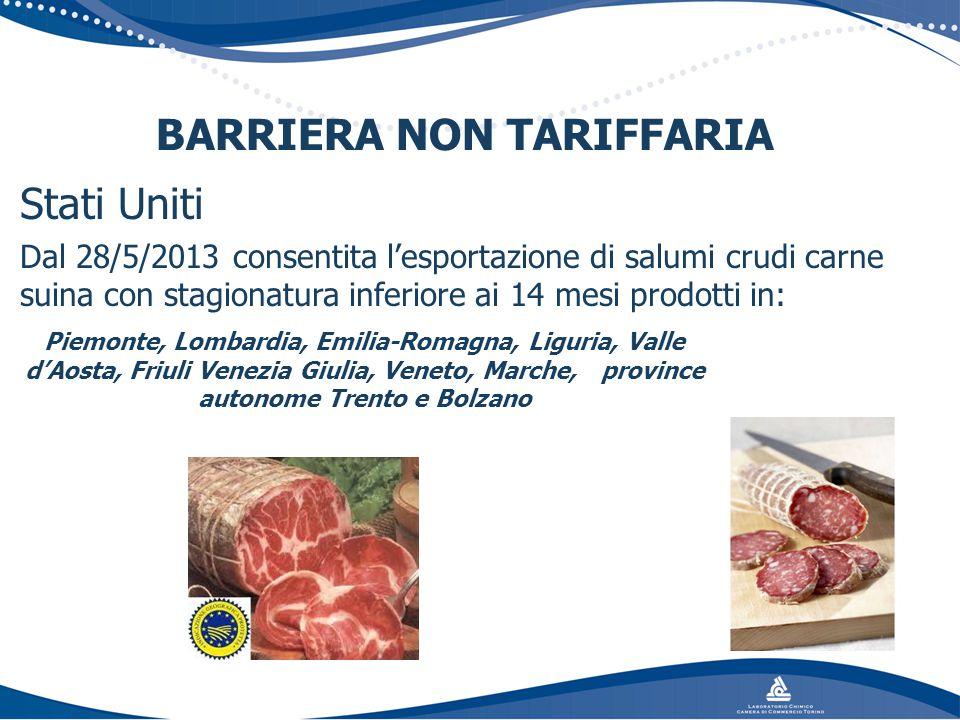 BARRIERA NON TARIFFARIA