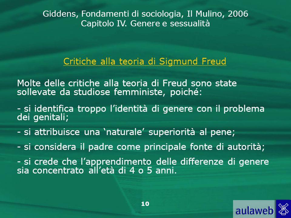 Critiche alla teoria di Sigmund Freud