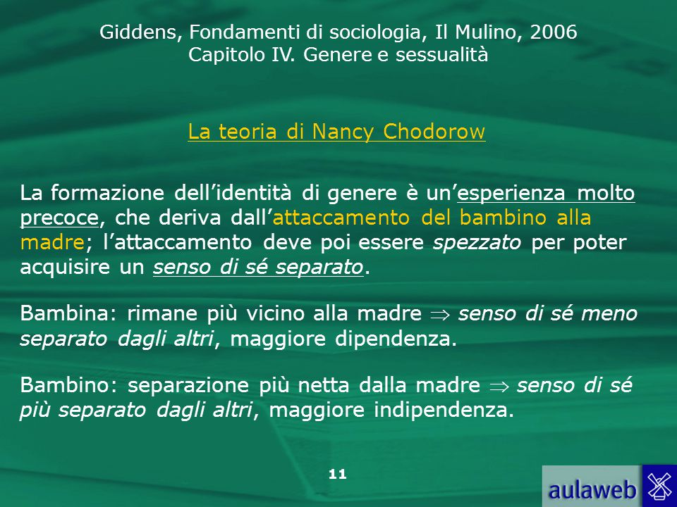 La teoria di Nancy Chodorow