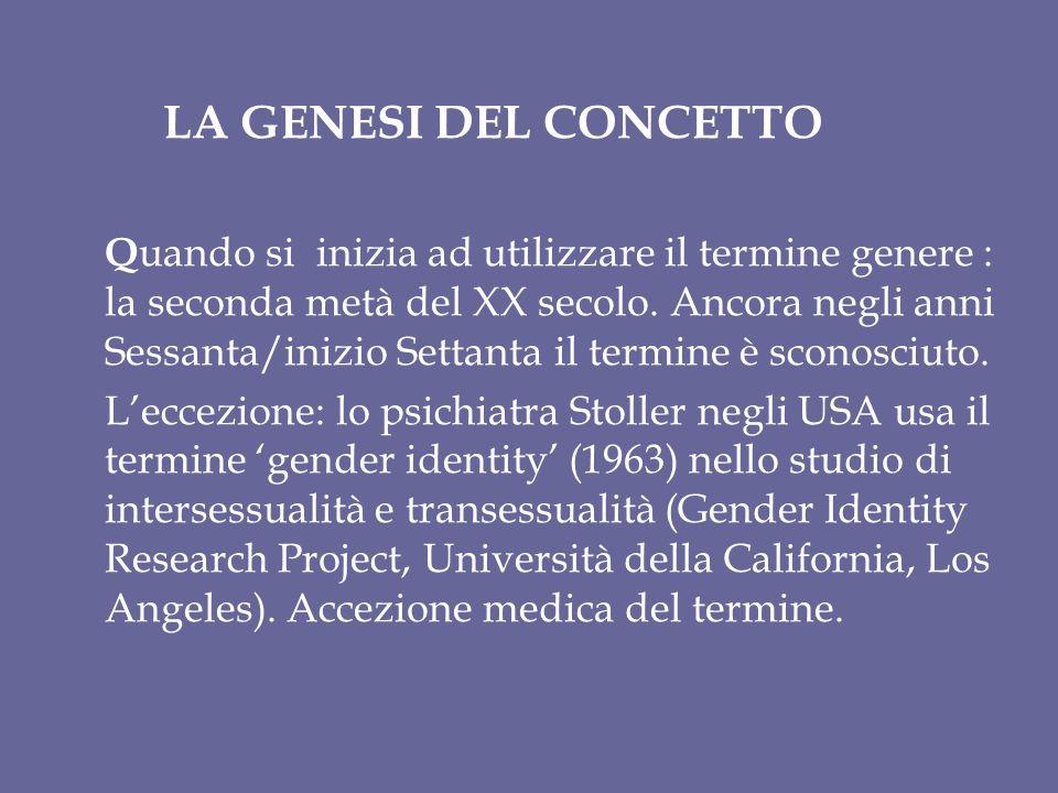 LA GENESI DEL CONCETTO