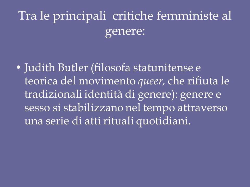 Tra le principali critiche femministe al genere: