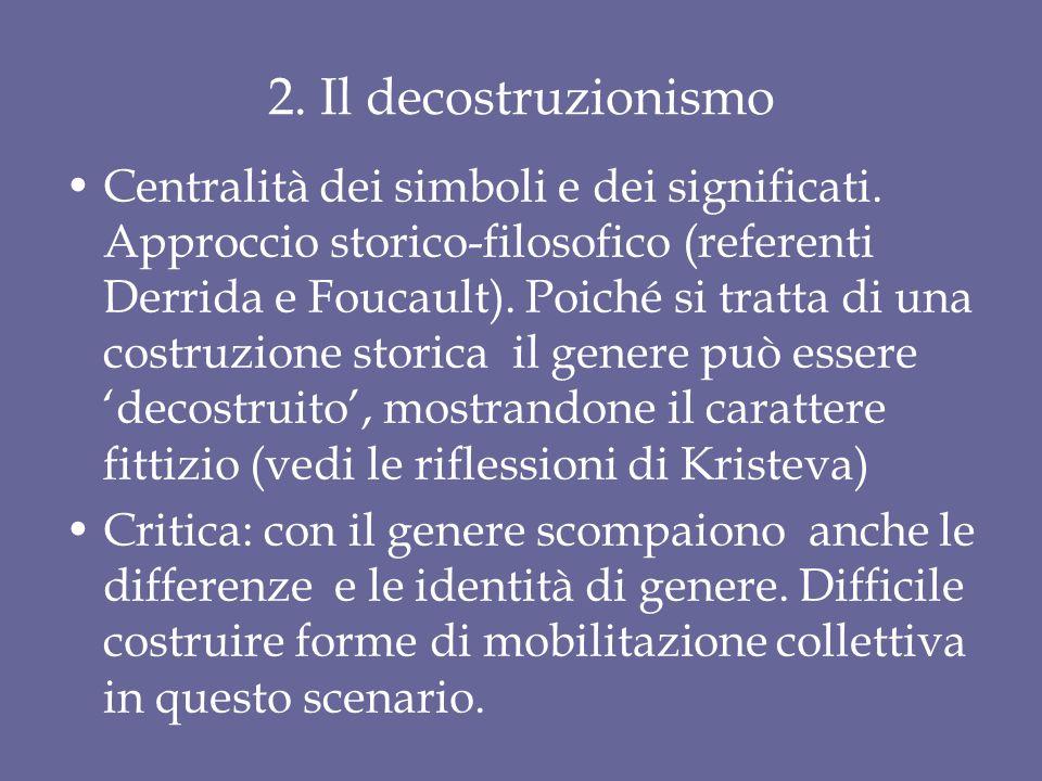 2. Il decostruzionismo