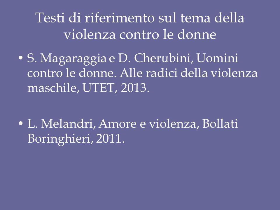 Testi di riferimento sul tema della violenza contro le donne