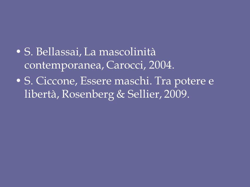 S. Bellassai, La mascolinità contemporanea, Carocci, 2004.