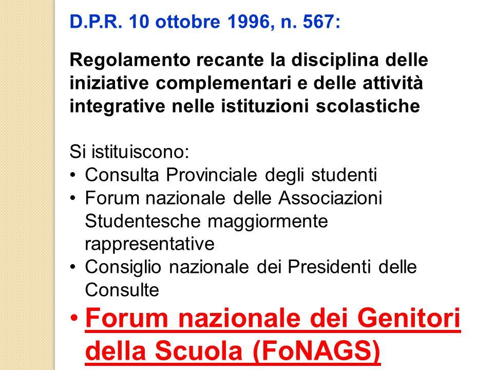 Forum nazionale dei Genitori della Scuola (FoNAGS)