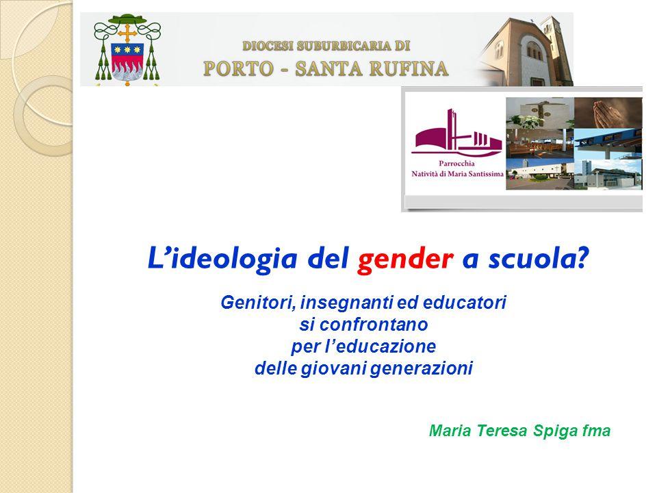 L'ideologia del gender a scuola