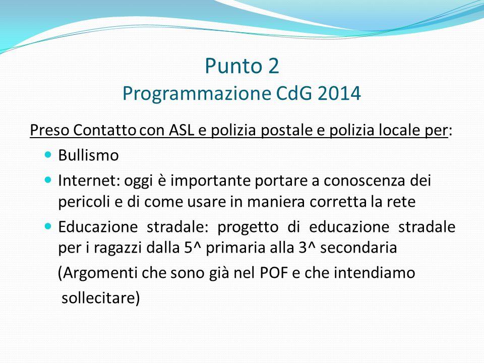 Punto 2 Programmazione CdG 2014
