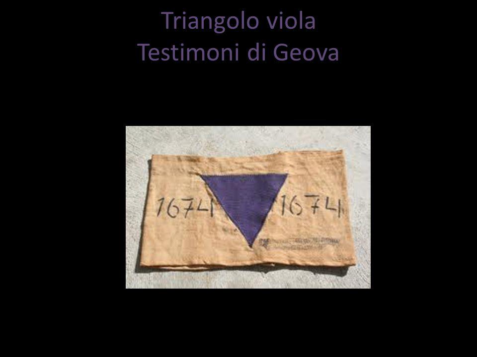 Triangolo viola Testimoni di Geova