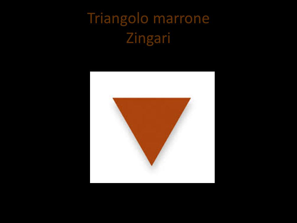 Triangolo marrone Zingari