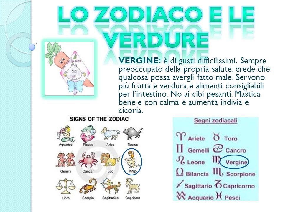 Lo zodiaco e le verdure