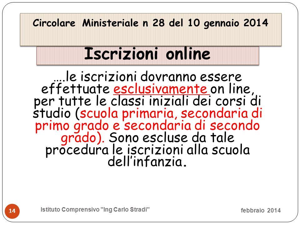 Circolare Ministeriale n 28 del 10 gennaio 2014