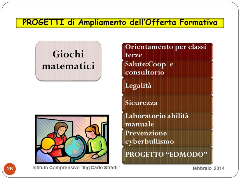 Giochi matematici PROGETTI di Ampliamento dell'Offerta Formativa