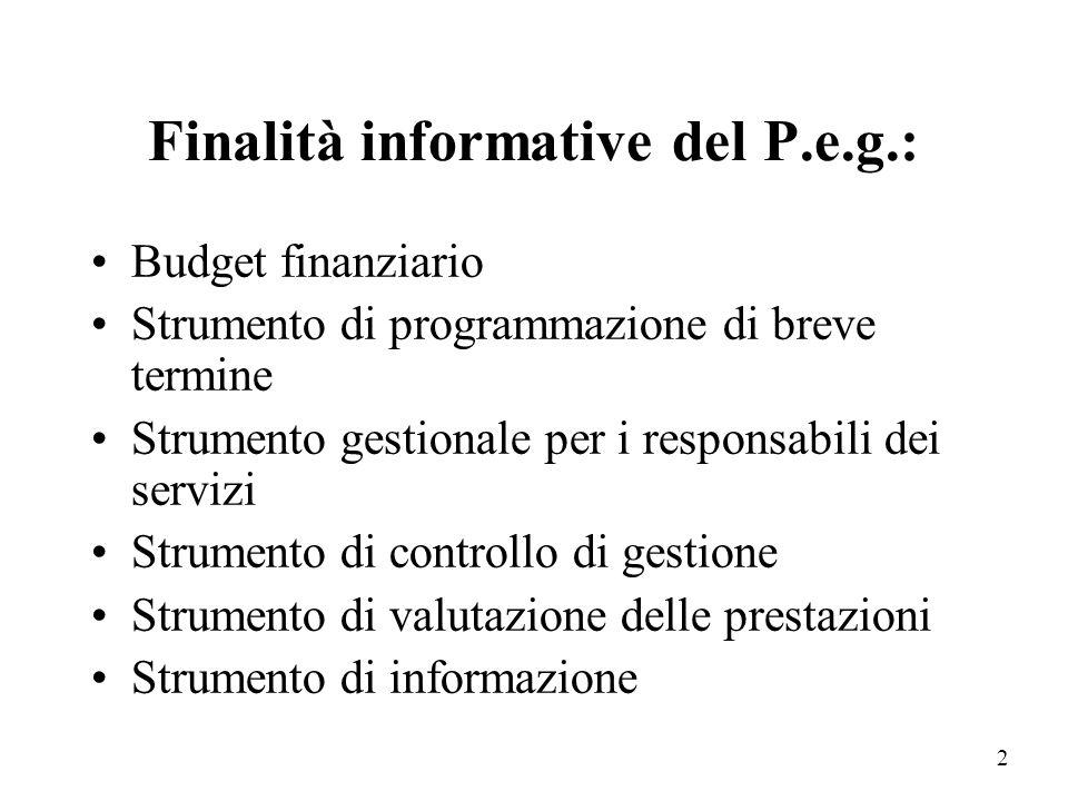 Finalità informative del P.e.g.: