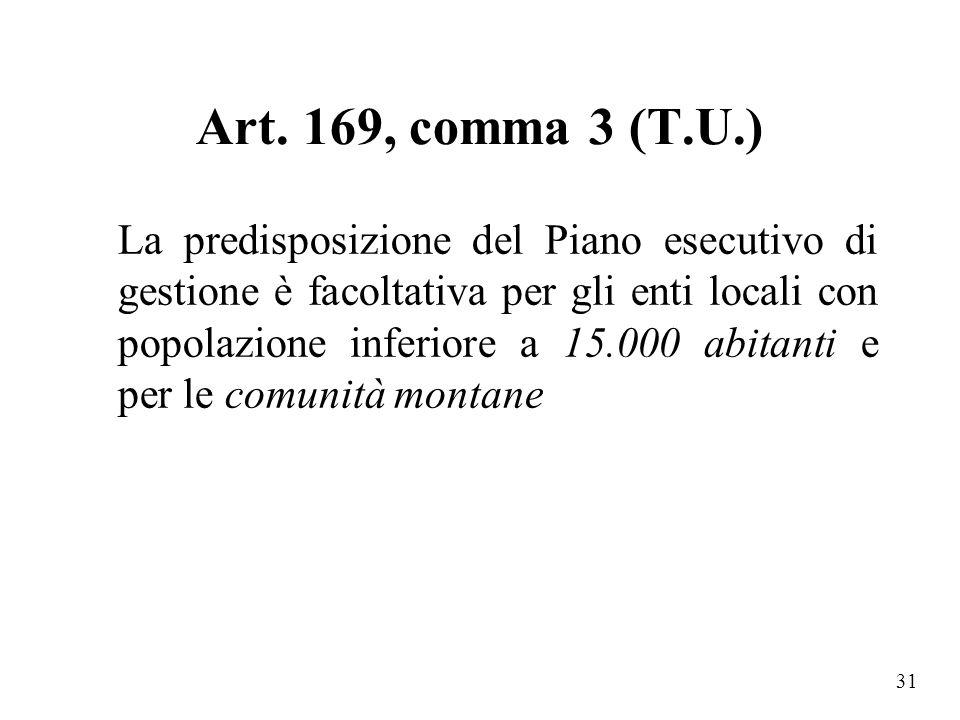 Art. 169, comma 3 (T.U.)
