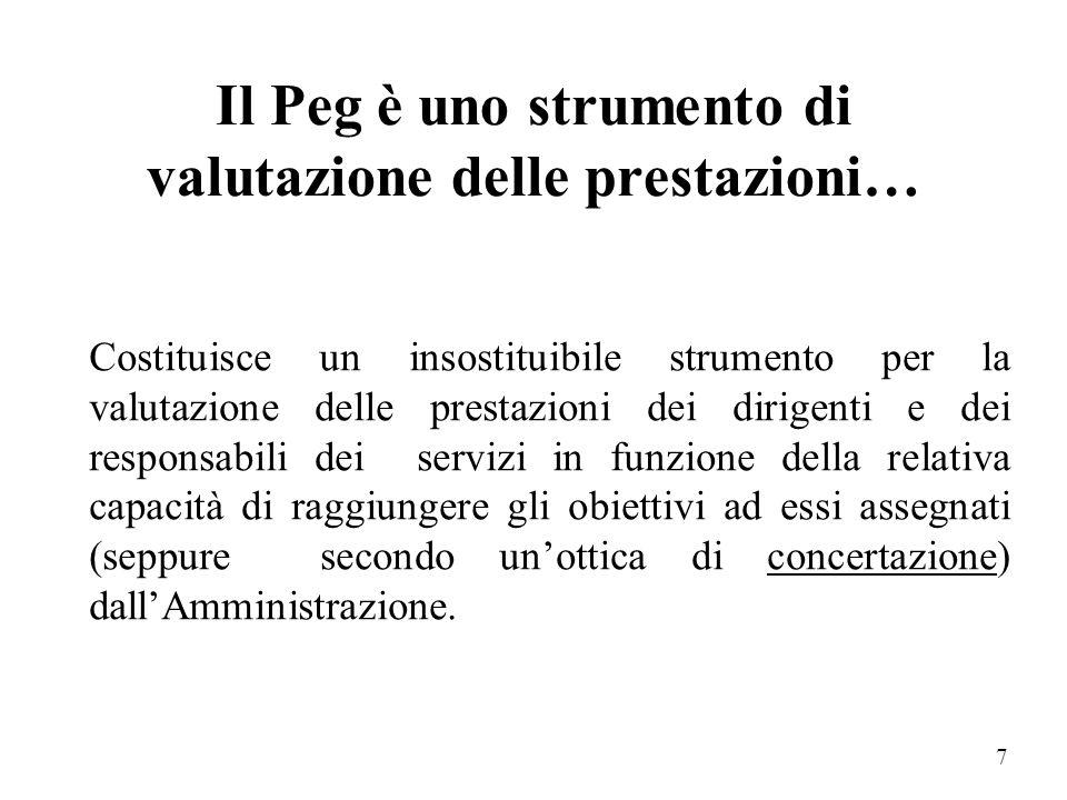 Il Peg è uno strumento di valutazione delle prestazioni…