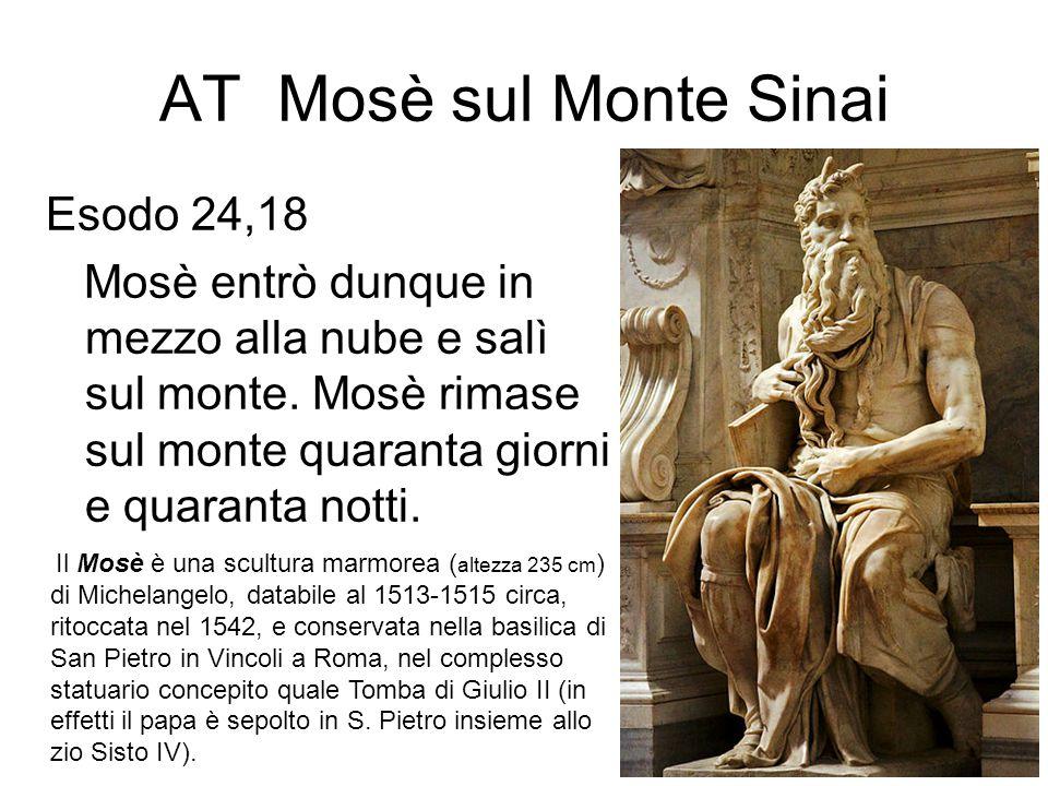 AT Mosè sul Monte Sinai Esodo 24,18