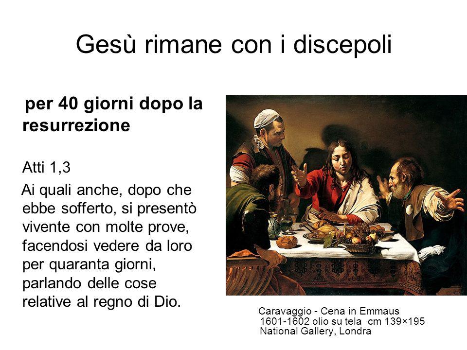 Gesù rimane con i discepoli