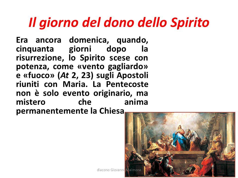 Il giorno del dono dello Spirito