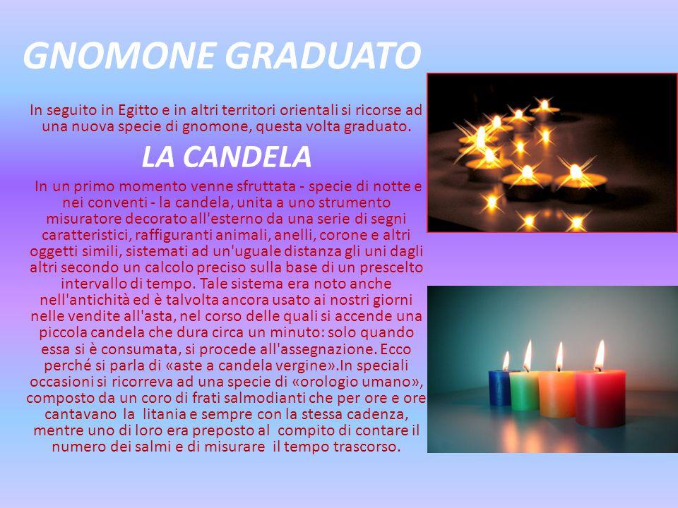 GNOMONE GRADUATO LA CANDELA