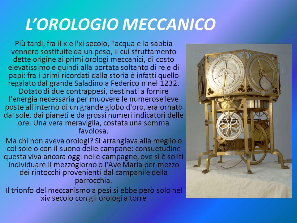 L'OROLOGIO MECCANICO