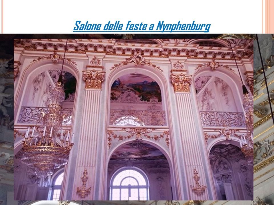 Salone delle feste a Nynphenburg