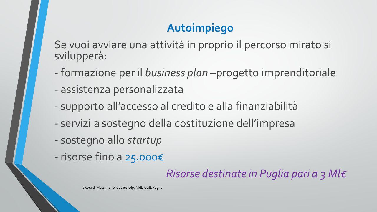 - formazione per il business plan –progetto imprenditoriale