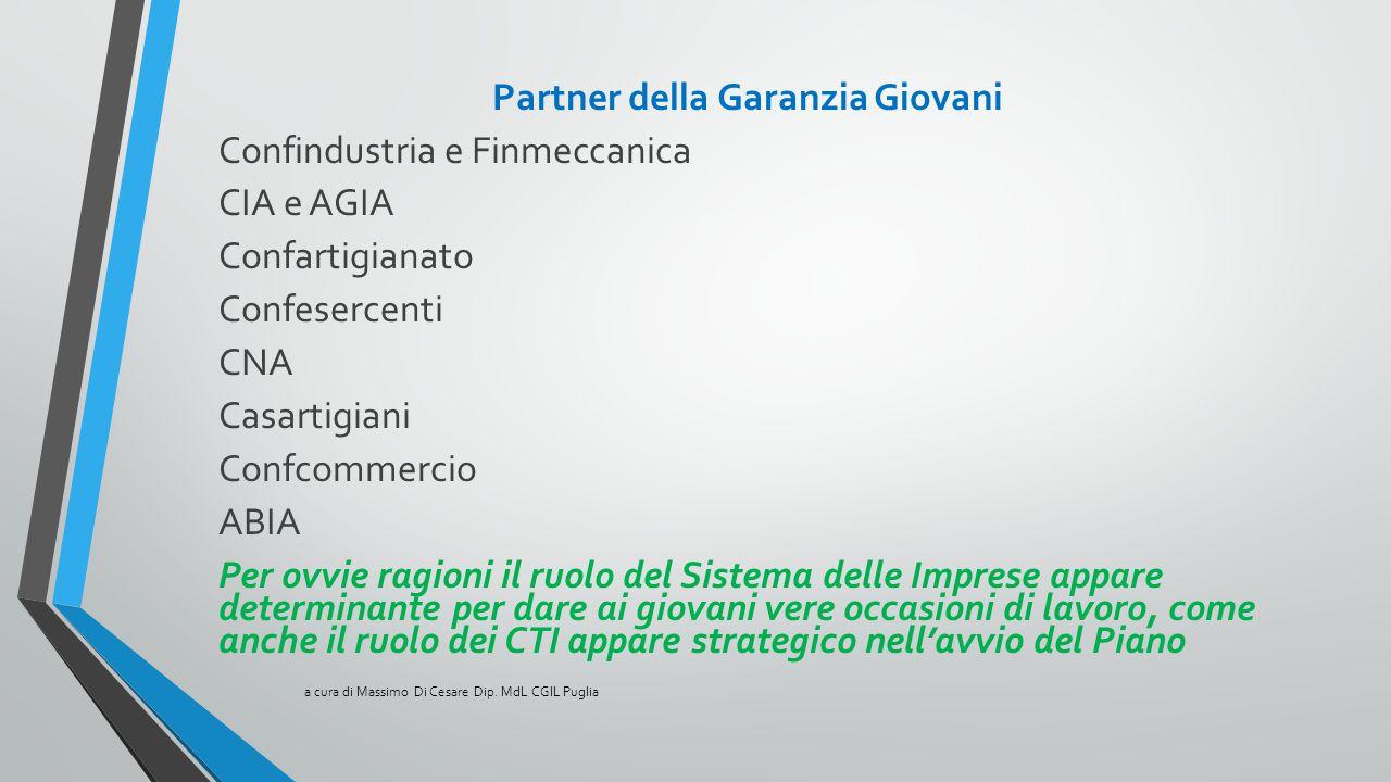 Partner della Garanzia Giovani