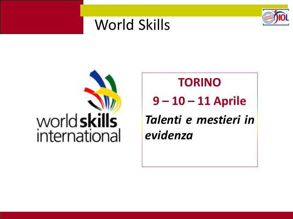 TORINO 9 – 10 – 11 Aprile Talenti e mestieri in evidenza