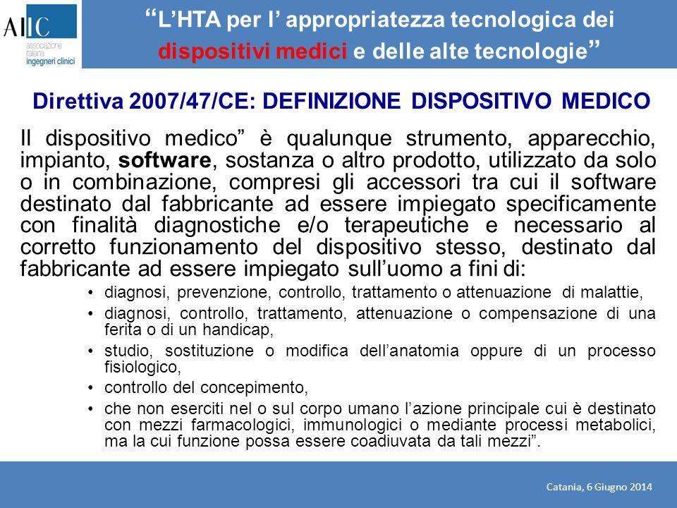 L'HTA per l' appropriatezza tecnologica dei dispositivi medici e delle alte tecnologie