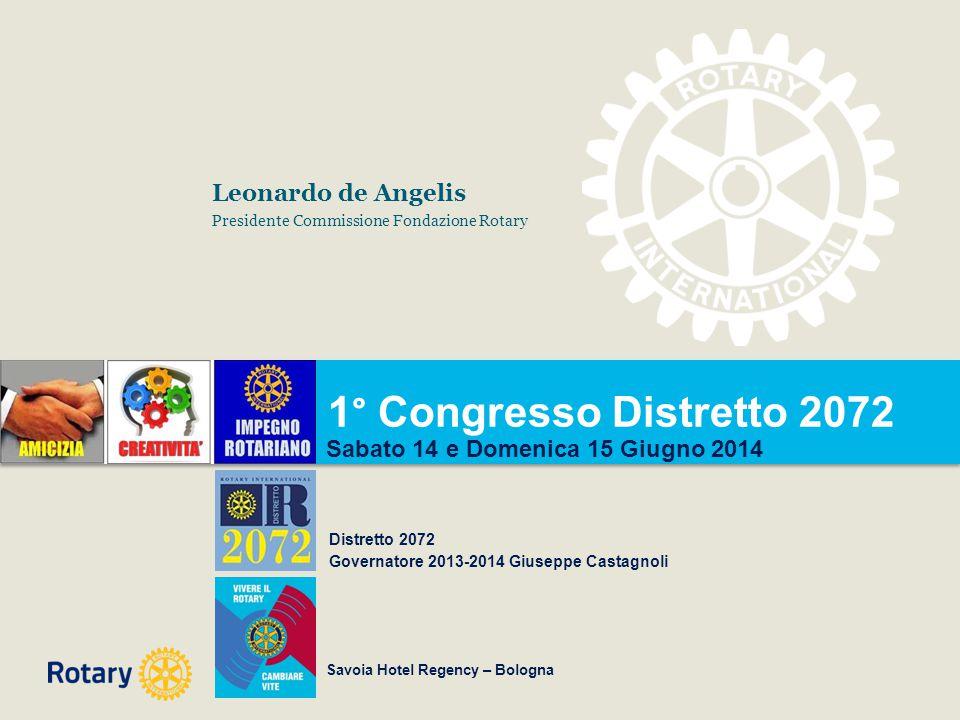 1° Congresso Distretto 2072 Leonardo de Angelis
