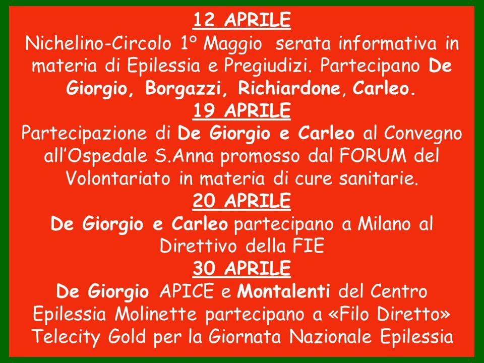 De Giorgio e Carleo partecipano a Milano al Direttivo della FIE