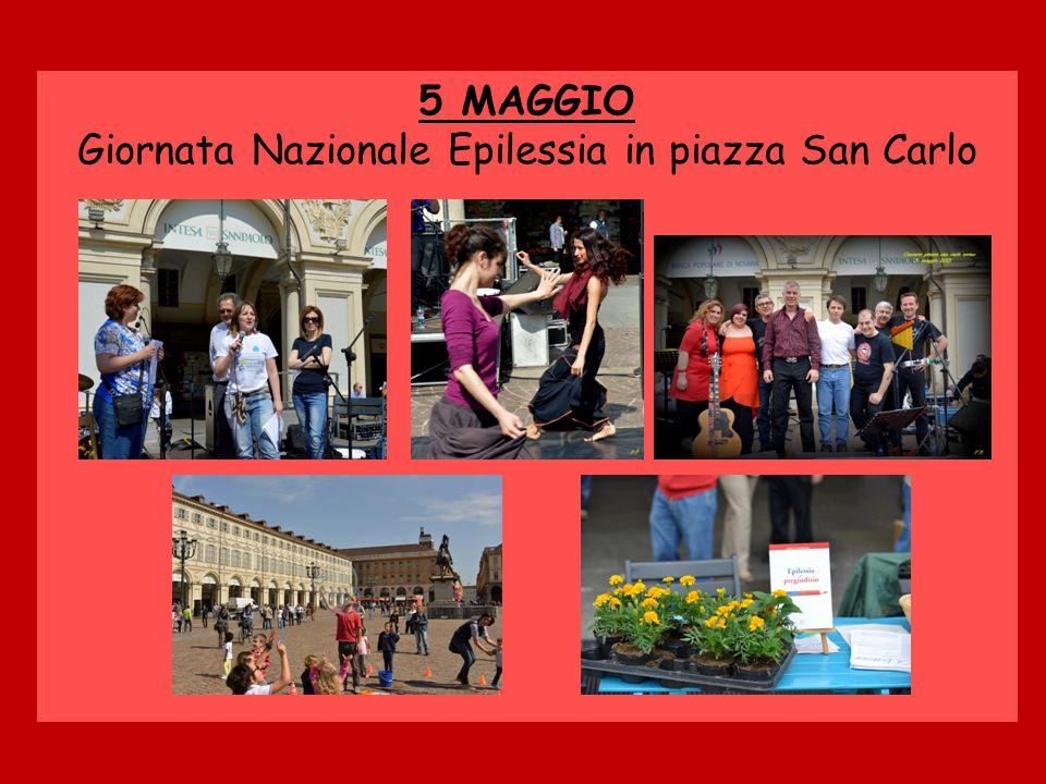 Giornata Nazionale Epilessia in piazza San Carlo