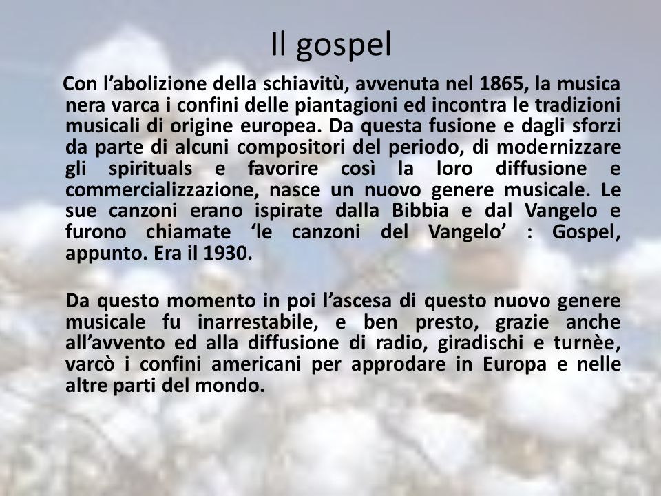 Il gospel