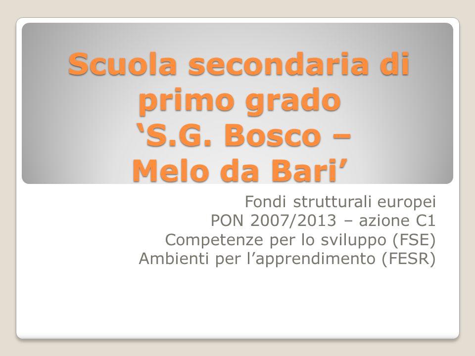 Scuola secondaria di primo grado 'S.G. Bosco – Melo da Bari'